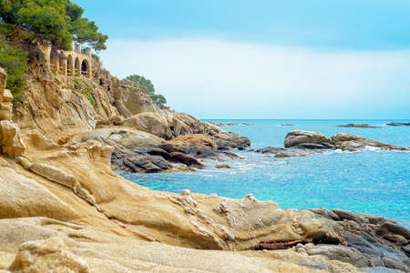 Costa Brava coast, Platja dAro, Catalonia Spain