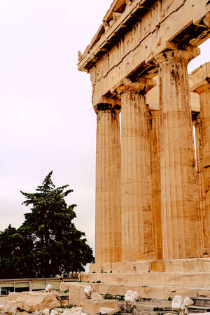 Parthenon on the Acropolis in Athens, Temple of Hephaestus, Greece