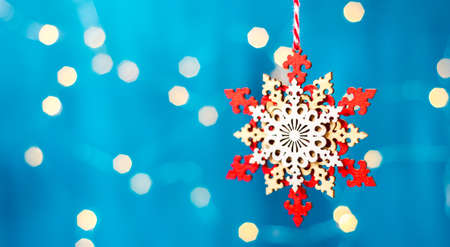 Christmas decoration on the tree, christmas background Stock Photo