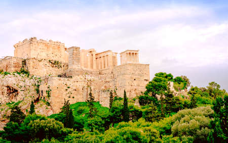 Acropolis of Athens, architectural monument, tourist attraction