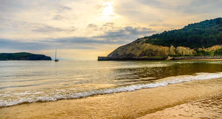 Playa De Gorliz at sunset, Spain, Basque Country, Bilbao