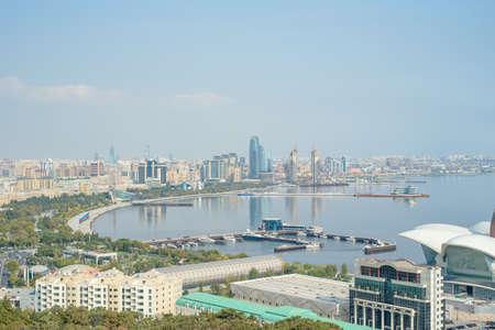 Baku aerial panoramic view of Baku, Azerbaijan