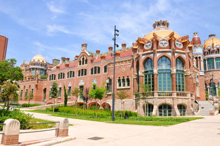 Hospital de Sant Pau in Barcelona, Spain 版權商用圖片