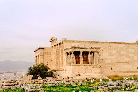 Acropolis of Athens, architectural monument Stock Photo