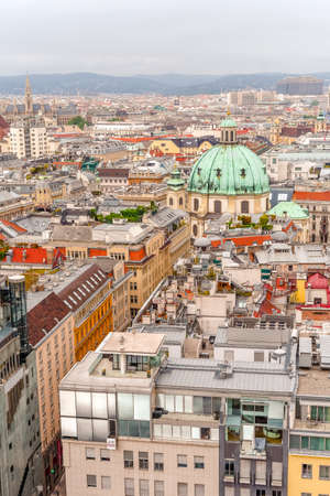 Vienna city panorama view from St. Stephans cathedral Reklamní fotografie