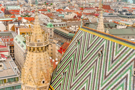 Vienna panorama view from St. Stephans cathedral Austria Imagens