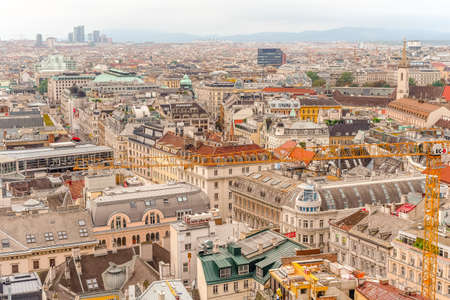 Vienna city panorama view from St. Stephan's cathedral Imagens