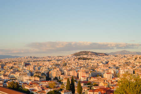 Athenes view from the acropolis, tourist place. Greece