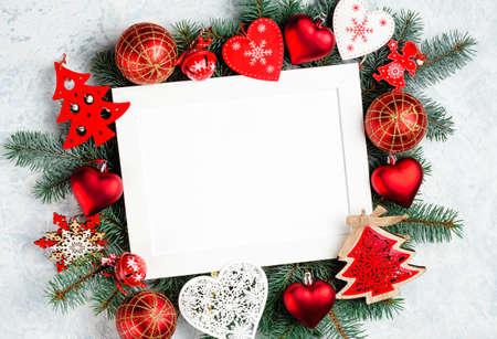 Composition du cadre de Noël ou du nouvel an.
