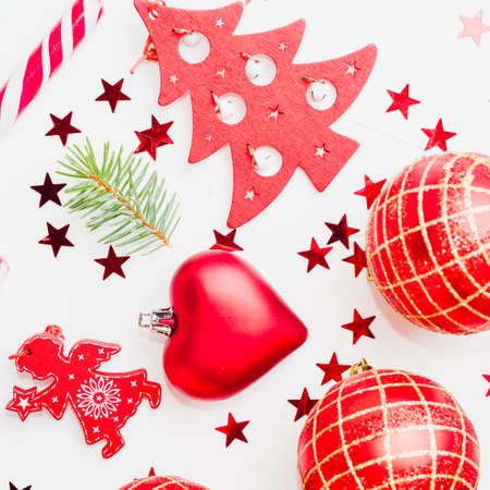 Christmas decoration collection Stock Photo