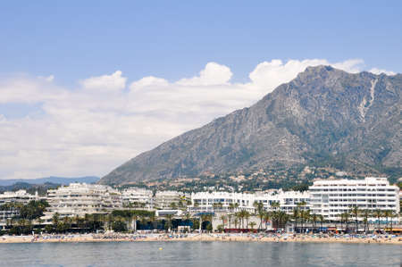 Panorama of Puerto Banus, Marbella Stock Photo