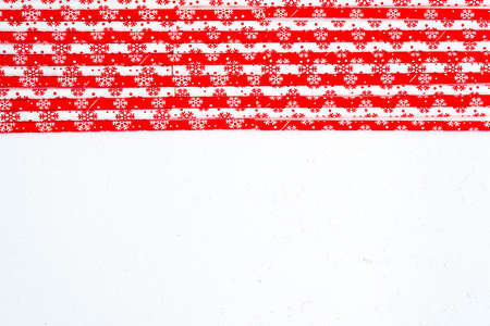 Drinking straws for party on white background. Top view of colorful straws for cocktails. Place for text, copy space.
