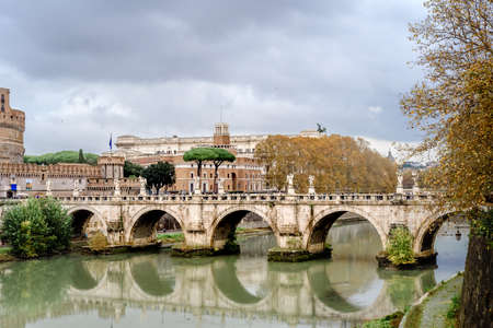 Castel Sant Angelo in Rome Italy, built in ancient Rome, the famous tourist attraction of Italy.