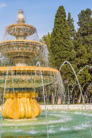 Close up of a fountain Baku Azerbaijan.