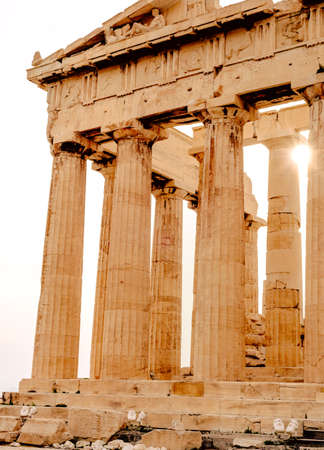 Parthenon on the Acropolis in Athens, Greece Zdjęcie Seryjne