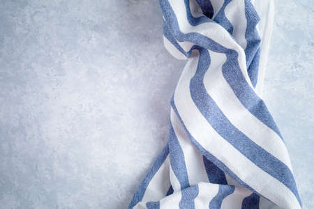 kitchen cloth napkin on wood background with copy space Stock Photo