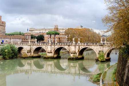 Castel Sant Angelo in a autumn day in Rome, Italy