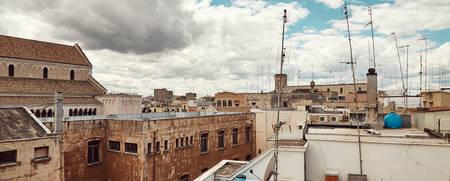 Panoramic view of old town in Bari, Puglia, Italy Stock fotó