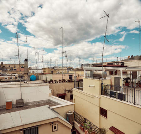 Panoramic view of old town in Bari, Italy