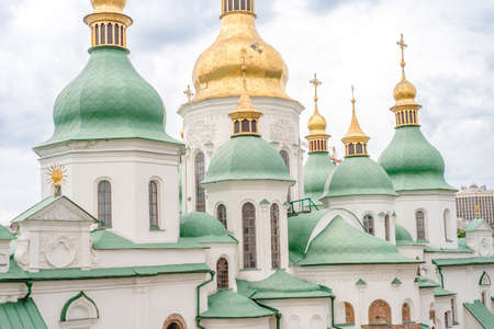 Remarkable Saint Sofia Cathedral, Kiev, Ukraine summer day Stock Photo