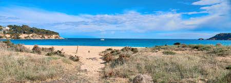 modern Spanish city beach SAgaro , Girona, Spain 版權商用圖片