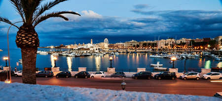 Landscape in spring of the town of Bari in Italy Stock Photo