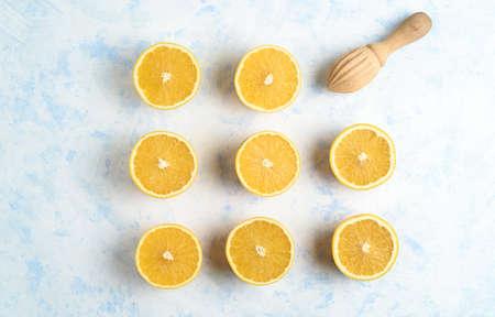 Making a fresh and healthy orange juice 写真素材