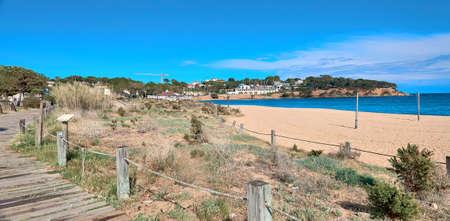 Beach of Platja d Aro,Costa Brava,Spain