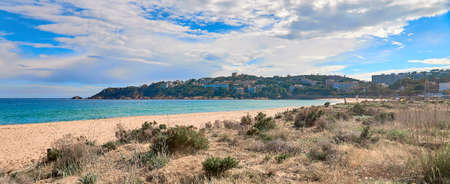 Spanish  beach S'Agaro , Girona, Spain Stock fotó - 133831713