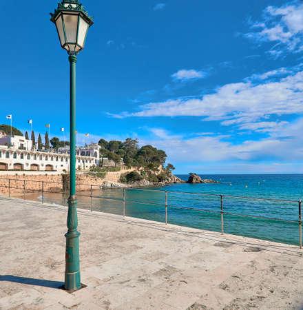 Spanish city beach SAgaro , Girona, Spain 版權商用圖片