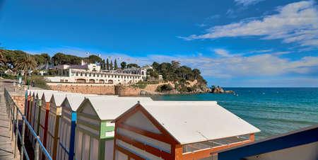 Spanish city beach S'Agaro , Girona, Spain Stock fotó - 133831719