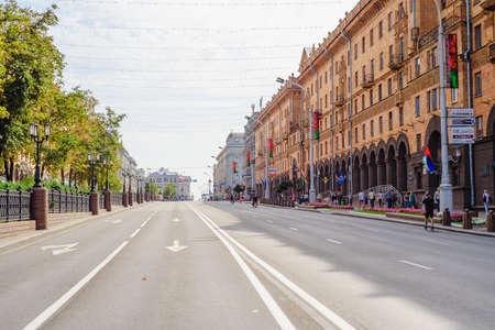 September 9, 2018, Minsk, City Day, festivities, view of Lenin street Minsk Редакционное