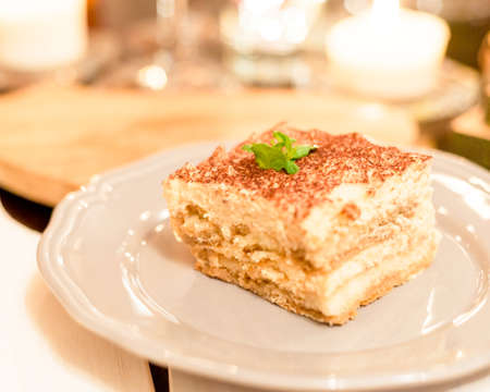 Tiramisu divine dessert perfect for a candlelight date.