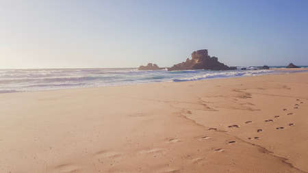 Praia da Castelejo, mysterious windy beach