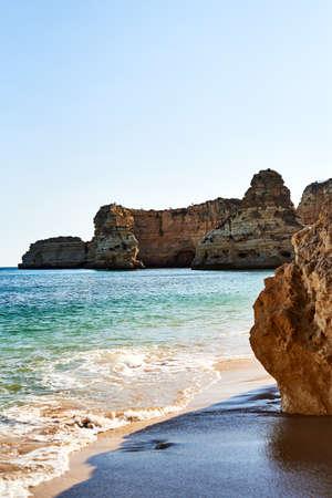 Quiet cove at Praia da Marinha, Algarve, Portugal