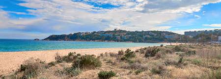 modern Spanish city beach S'Agaro , Girona, Spain