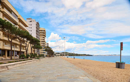 The Beach of Platja d Aro,Costa Brava,Spain