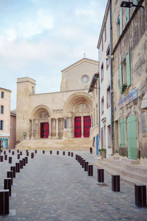 The Abbey of Saint-Gilles, monastery in Saint-Gilles Banco de Imagens