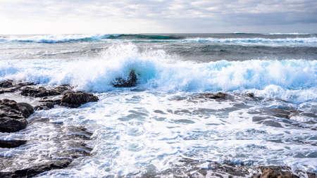 El Cotillo Beach, Fuerteventura, seething ocean, waves