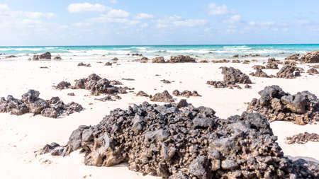 Rough waters of the Atlantic Ocean Corralejo, Fuerteventura Standard-Bild