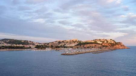 Sant Feliu de Guíxols, panoramic mountain city view