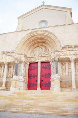 The Abbey of Saint-Gilles, monastery in Saint-Gilles Standard-Bild