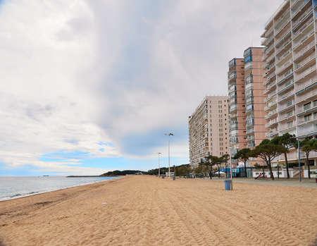 the Beach of Platja d Aro,Costa Brava,Spain Stockfoto