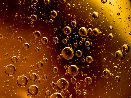 Air, oil and water mixed  for a bubbly effect Banque d'images