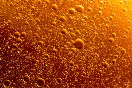 Rising orange bubbles