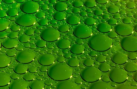 tridimensional: Green bubbles texture