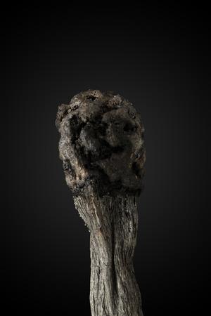 matchstick: Matchstick after burning Stock Photo