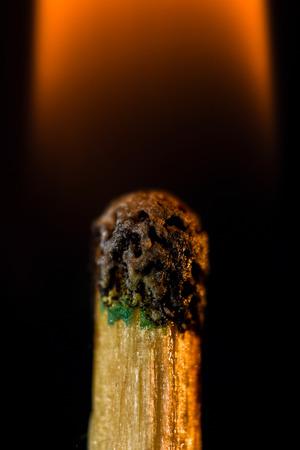 night stick: Close up of a burning match