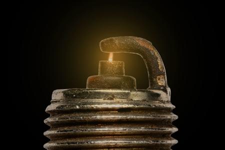 Extreme magnification - Spark plug firing