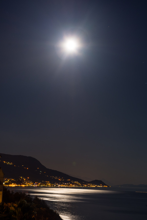 the split: Moon above Split, Croatia